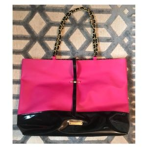 Juicy Couture XL pink and black tote purse